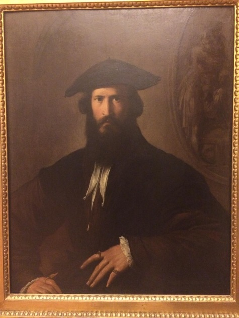Portrait of a Man by Parmigianino (photo taken by Nathan Cox)