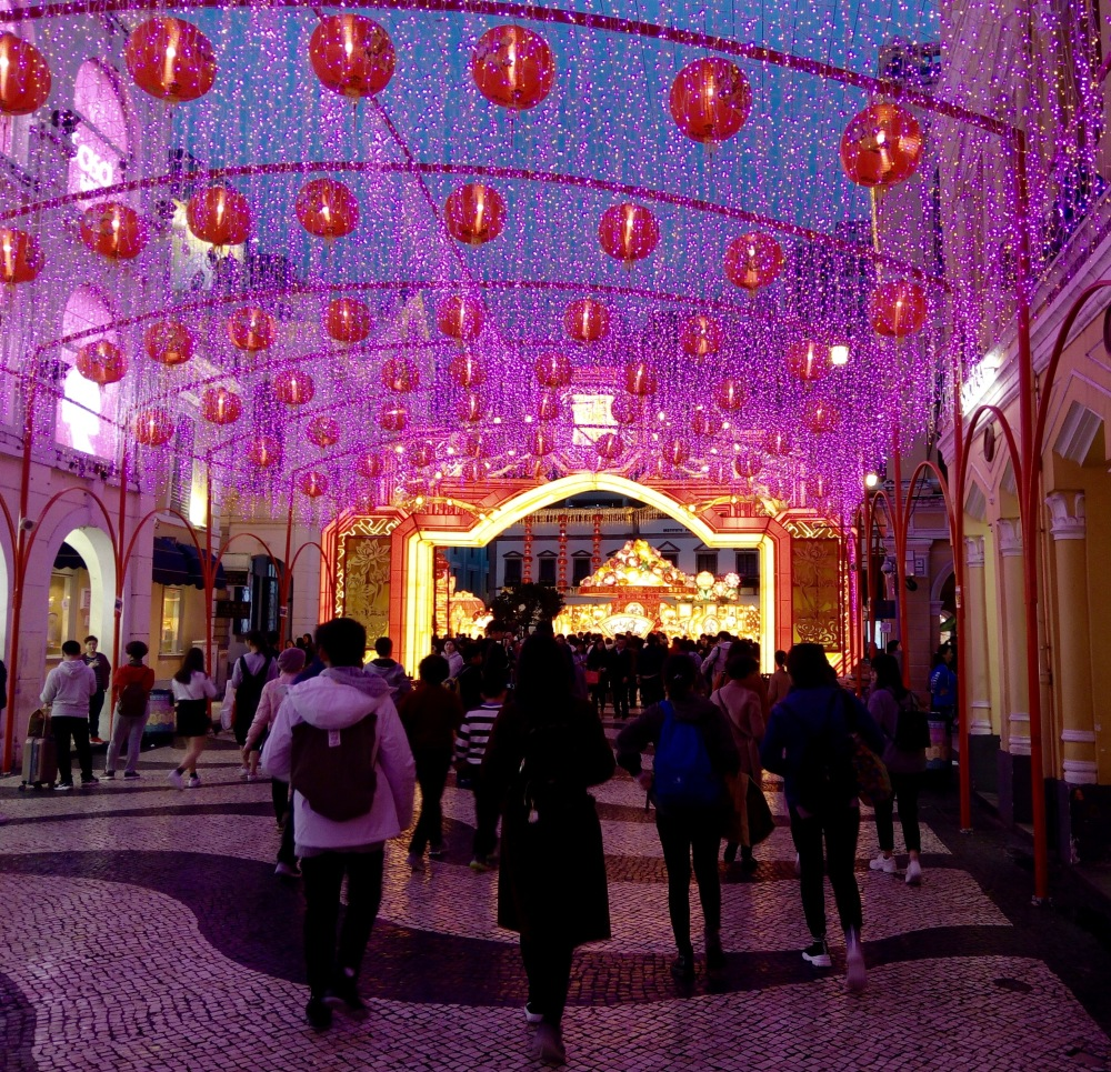 The Pink Shimmer in Macau at Chinese New Year 2019